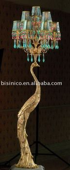 HOT-Classical bronze peacock floor lamp(left) (B25080)
