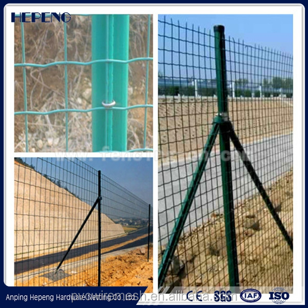 PVC coated Holland metal mesh fence