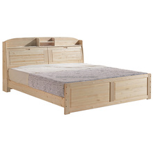 2018 Pine Wood Single Layer Bed With Bookshelf Knocked Down Cot