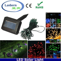 2016 wedding party Christmas decorations 12M 100 led solar fairy ornaments red led string fairy solar garden lights canada
