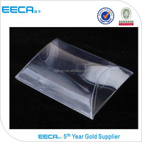 Customized clear pvc packing boxes/plastic packaging pillow box made in Guangdong