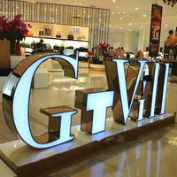 Outdoor 3D customized acrylic led light box sign letters advertising light front lit sign