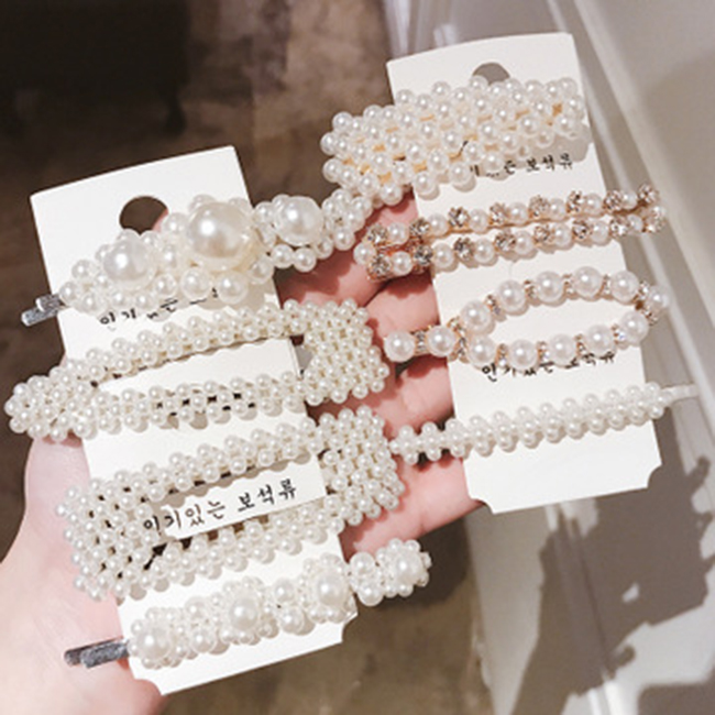 New Design Fashion Marble Geometric Acrylic Hair Clip Set for Women Girls Leopard Print Hairpins