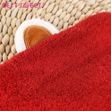 Spotted Red Hood Towel Quality 100% Cotton Kids Hooded Baby Bath Towel