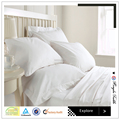 Plain white 100% cotton bed sheets for hotels and hospitals