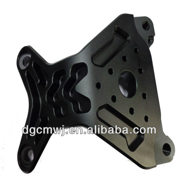 High precision cnc machining Anodized black hardware part