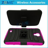 New Products Rugged Hybrid Impact Silicone Pc Combo Holster Cover Case With Clip For Huawei Valiant Y301 H881C