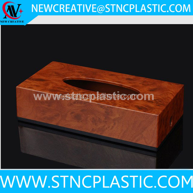 faux leather facial tissue arabic tissue acrylic box toilet paper colorful magnetic napkin holder