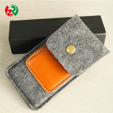 Wholesale Factory Fancy Felt Leather Wallet Mobile Phone Cover