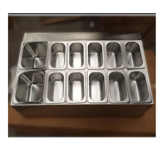 Gn Pan Suppliers 1/6 10cm LFGB certification stainless steel Anti Jam Gn food Pan ice cream container
