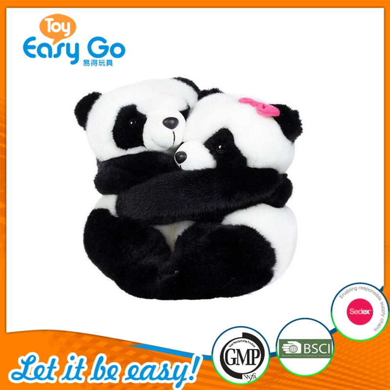 Valentine Day Gift Couple Panda Toys Hugging Together
