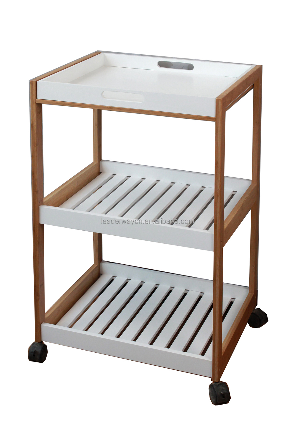 Home furniture wood stainless steel kitchen trolley design for Kitchen trolley design