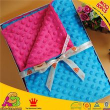 MOQ 50PCS 2015 newest design skin friendly SGS checked textured baby blanket