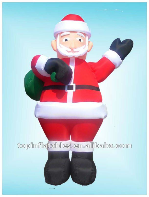 2012 giant inflatable christmas decoration,inflatable father christmas for sale