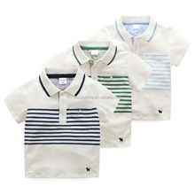 New fashion summer short sleeve stripe kids boy polo t shirt