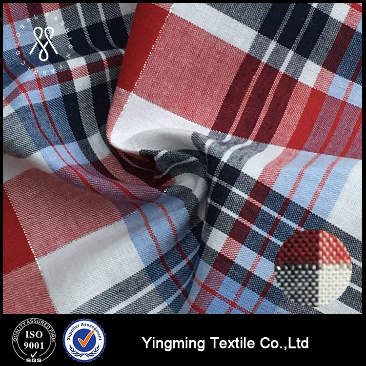Cotton yarn dyed woven fabric for shirt