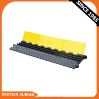 Black & Yellow Small Type 3 Channel Rubber Cable Protector Ramp