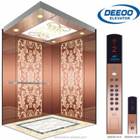 Cheap Price 6 persons 450kg VVVF control small elevator lift passenger with 1 year warranty