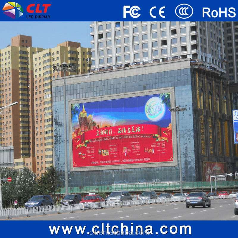 P10 outdoor wall mounted full color led screen display