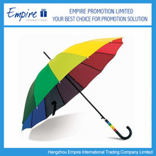 Rainbow Special Handle Logo Printable Promotional Strong Folding Umbrella