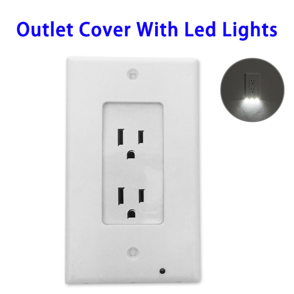 Quality Guaranteed Baby Safety Electrical Deco Outlet Cover with LED Lights
