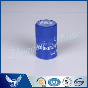 Classical top grade and blue plastic twist-off cap for bottle