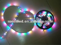 scott ws2811 flexible digital pixel led strip lights,64led/m 5050 rgb full color strips,silicon tube waterproof