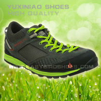 outdoor hiking men shoe sport, brand name leather mesh walking shoes men made in china