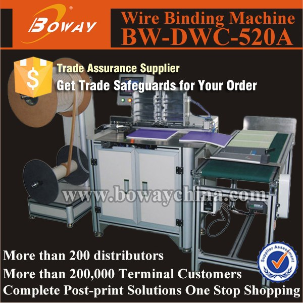 Boway service twin ring wire binding machine/double loop wire binding machine