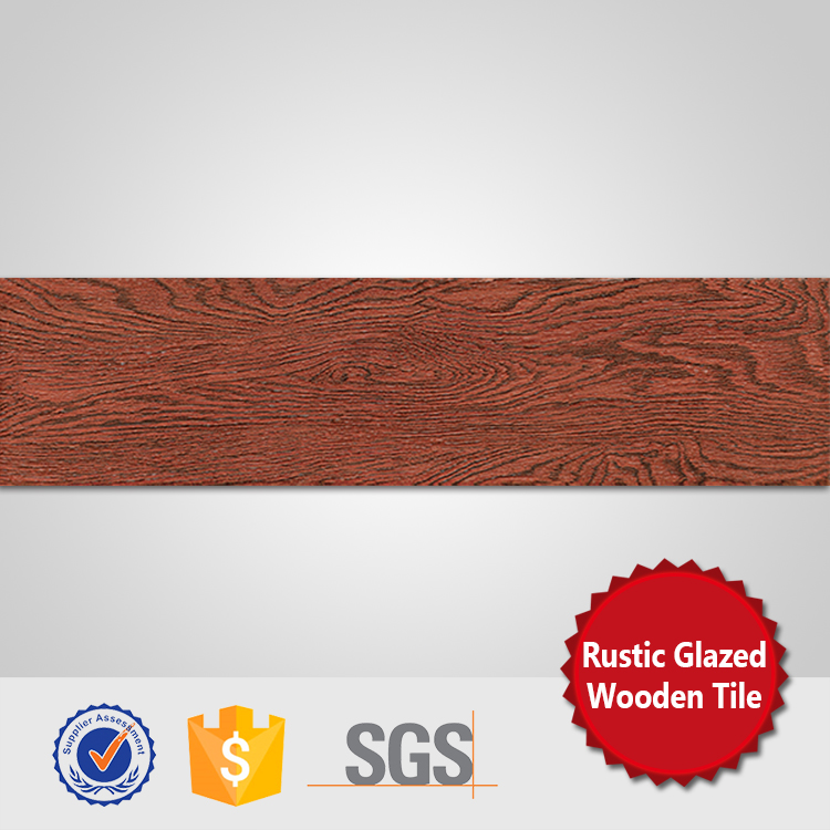 150x600 foshan red glazed rustic wood tile