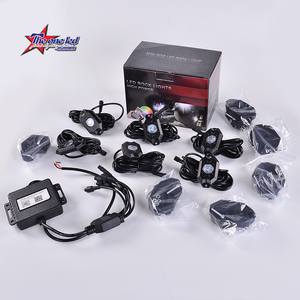 Super Brightness 6Xpods Kit Bluetooth App Phone Control IP68 RGB Color Changing Led Rock Lights Off-Road