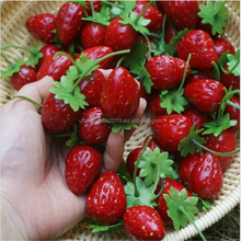 Artificial fake fruit food model, fake food strawberry for display romotional