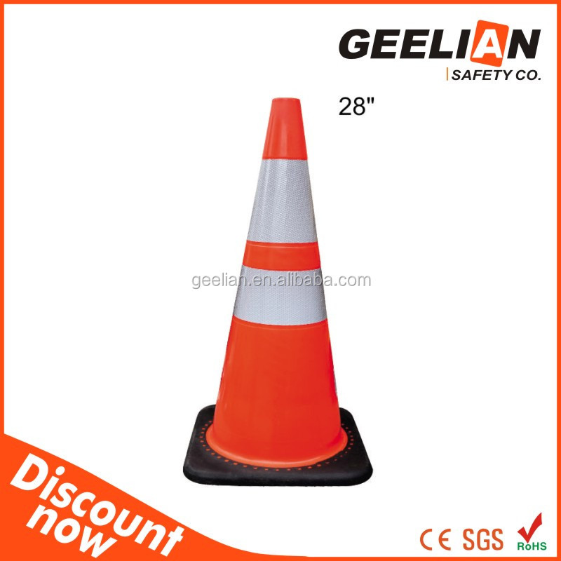 pvc traffic cone,retractable safety cones,710mm reflective traffic cone