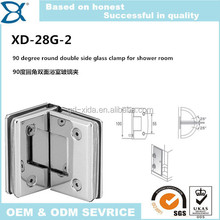 90 degree round double side glass clamp for shower room