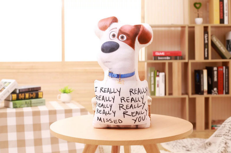 The secret life of pets new design 3 D animals stuff toys hold pillow