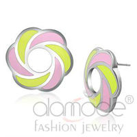Cute colorful epoxy stainless steel 316l jewelry