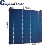 18% High Efficiency 6 Inch Photovoltaic Poly Solar Cells for 4BB Continuous