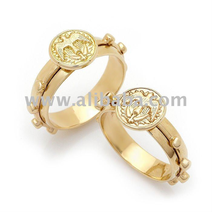 14K Gold Holy Spirit Rosary Ring