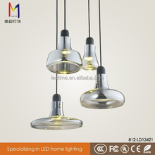 Modern Led 12w glass chandelier light pendant lamp with CE ROHS china factory