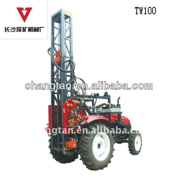 Tractor Drilling Rig in Hilly Area
