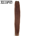 full head double weft cheap 100% human hair clip in hair extension