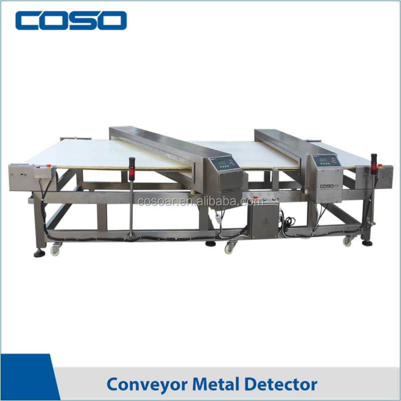 Metal and plastic detector machine with double probe