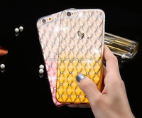 Most popular glitter case for iPhone 7 mobile phone cover / TPU rainbow cover for iPhone 7 diamond TPU case