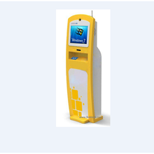LKS free standing lottery ticket printing kiosk with cash acceptor