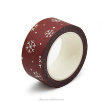 China Wholesale Decorative Custom Washi Adhesive Paper Tape For Christmas