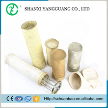 Good oxidation resistance polyester baghouse filter bag for lime stone powder