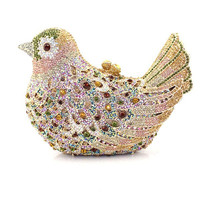 Beautiful shiny hard shell evening party bird shaped clutch bag ladies clutches purse SC2231