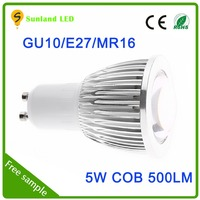 China manufacure CE ROHS AC85-265V led 5w dimmable cob gu10 led spotlight