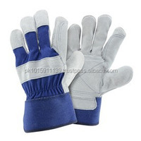 Blue Hawk Large Men's Leather Palm Work Gloves/Best Quality by Taidoc