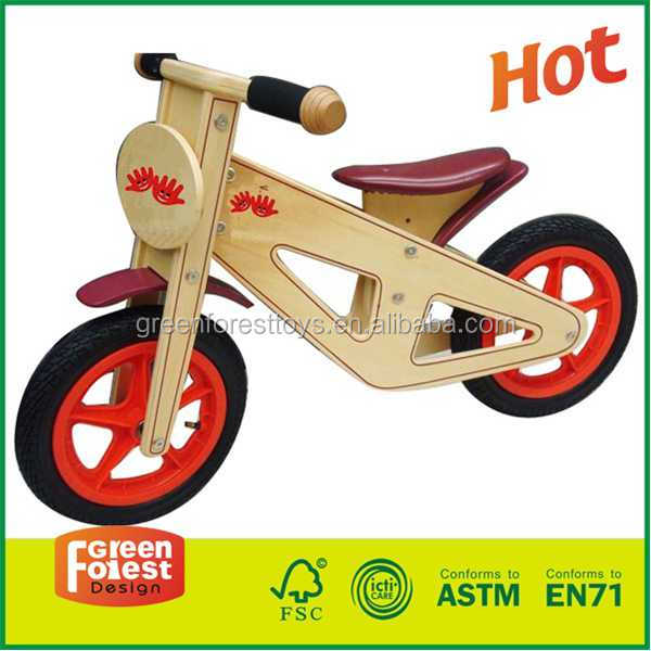 high five green forest wooden balance bike mountain bike toy